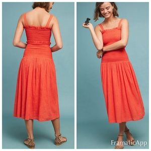 Anthropologie Steele Bisous midi dress size small